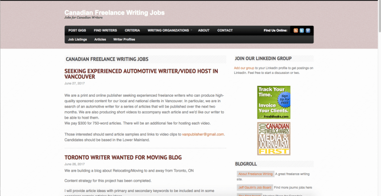 writing jobs in canada Toll-free for us and canada 1(800) 648-3117 looking for online writing jobs you are in the right place online ghostwriting jobs ghostwriting is big business.