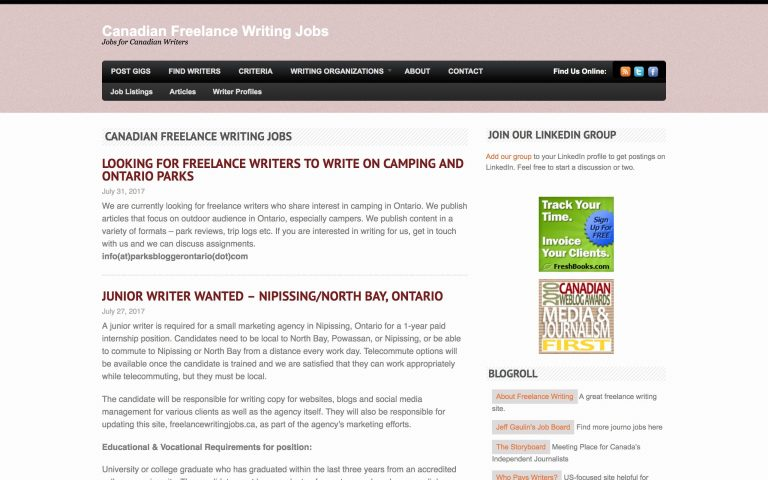 lance jobs websites to well paid work in  canadian lance writing this job board posts listings every 2 3 days in full on the homepage so you don t have to spend aaages right clicking